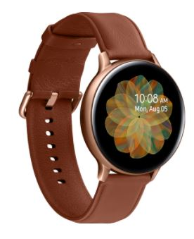 Galaxy Watch Active 2 Stainless Steel 44mm - goud bruin